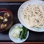 不動 - 柳久保小麦のうどんを肉汁で650円
