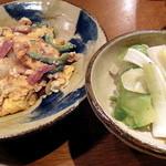 かごめ料理店 - ゴーヤチャンプルー_650円、ザーサイと島らっきょうの浅漬け_480円