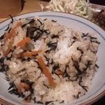 17366339 - ひじきご飯。これは無料。
