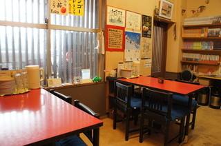広島お好み焼き 廣 - テーブル席2つ、カウンター5席程度。