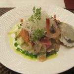 17367320 - 前菜(魚介類のサラダ仕立て)