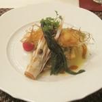 17367322 - 魚料理(手長海老と鯛のポワレ)