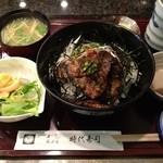 17369117 - まぐろほほ肉のステーキ丼900円