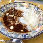 ハイジ - 料理写真:ビーフシチューライス。ゴルゴンゾーラをかけたもの1200円。