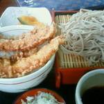 神座 - 料理写真:イカ天丼蕎麦セット