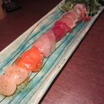 点 - 7種の鮮魚のレインボーカルパッチョ(\1,300-)