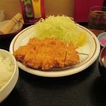楽食亭本店 - 料理写真:チキンカツ定食 500円