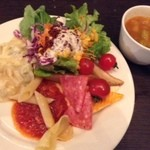 17375357 - スープとサラダ