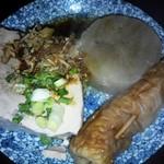 天界 - おでんの大根とお豆腐とちくわをいただきました