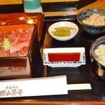 銀山茶屋 - 「鉄火重」セット\850です(2013/2/18UP)