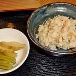 銀山茶屋 - 「付け合せ」です(2013/2/18UP)