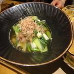 麺どころ 晃庵 - 九条葱と豚バラ肉の柚子胡椒煮