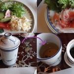 17389440 - バイキング式で、好きなサラダをとります。中国茶、美味しいですよ~。