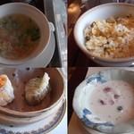 17389444 - スープ、炒飯、天津、デザート(ココナッツミルク)
