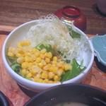 博多いねや - 私の選んだ3つの小鉢の一個目はサラダ、野菜をたっぷりとってビタミン補充です。