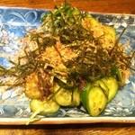 おれんち - 胡瓜の梅たたき 420円