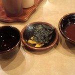 17397477 - 御茶と漬物とソース