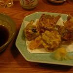 かわ津 - ふきのとうの天ぷら