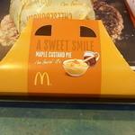 マクドナルド - 料理写真:メープルカスタードパイ♪