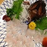 三海荘 - カサゴの活き造り  コリコリ感が新鮮さの証