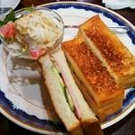 ドマーニ - モーニング(ハムトースト)¥500