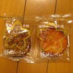 桜せんべい - 厚堅焼中丸(無地、ゴマ)¥42/枚