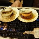 磯丸水産 - 帆立、活白蛤、