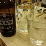 磯丸水産 - お替り焼酎は別グラスで