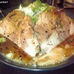 17408152 - 黒いガッツリ!!濃厚豚骨塩ラーメン(850円)