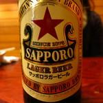 そと川 - ドリンク写真:ラガービール(大)600円