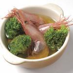 はちまる サイド B - 有頭甘海老と旬野菜のチュプチュプ