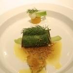17408977 - 青森のアイナメにノルマンディー産バターの香りを乗せモンサンミッシェルのムール貝と共に