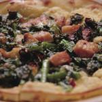 はちまる サイド B - 菜の花とベーコンのオイルピザ