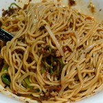 四川曹家 担担麺館 - 汁なし担々麺(麺をしっかり混ぜたところ、2013年1月)
