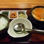 てつ - 海鮮チゲ定食¥1000♪