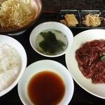 五色亭 - 料理写真:ハラミ定食 ¥1050