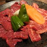 安楽亭 - 料理写真:黒毛和牛プレミアムカルビ&ロース