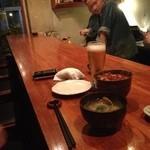 青 - 雲丹いくら丼と味噌汁^_^