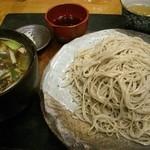 御陵院 香雅 - 今回頂いた鴨汁そば。つゆもたっぷり。