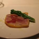 リストランテクロディーノ - 寒ブリと大根のテリーヌ 柚子と生姜の香り