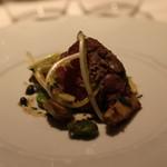 リストランテクロディーノ - 仔羊もも肉 サルシャッチャを詰めてロースト 筍とアーティチョークのムニエル エストラゴンのソース