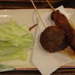 一笑瓶 - 牛肉150円&しいたけ肉詰め120円