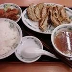 17441845 - W餃子定食 600円 (2013/2)