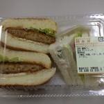 鈴木屋 - メンチカツバーガーセット250円