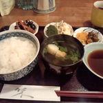 うなぎ 落合 - 穴子天ぷら定食のごはん
