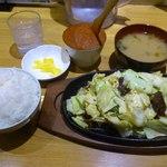 びっくり焼き亭 - ランチセット750円