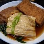上田温酒場 - 料理写真:ゆば、もち入り袋、あつあげ
