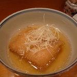 北新地 穂の河 - ☆揚げ餅…白髪葱が上に☆