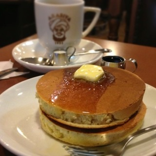 アラビヤコーヒー - ホットケーキとブレンドコーヒー