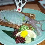 活魚工房八千代丸 - ヤリイカの姿造り